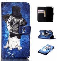 Style peňaženkové puzdro pre mobil Lenovo S90 - mops