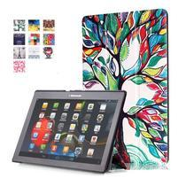 Polohovatelné pouzdro na tablet Lenovo Tab 2 A10-70 - malovaný strom