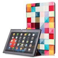 Polohovatelné puzdro pre tablet Lenovo Tab 2 A10-70 - farebné kostky