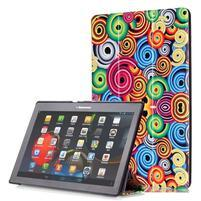 Polohovatelné pouzdro na tablet Lenovo Tab 2 A10-70 - barevné kruhy