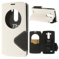 Diary puzdro s okienkom na mobil LG G3 - biele