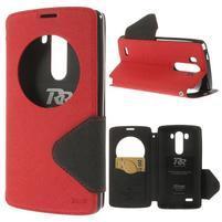 Diary puzdro s okienkom na mobil LG G3 - červené