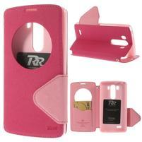 Diary puzdro s okienkom na mobil LG G3 - rose