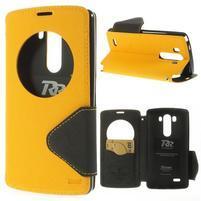 Diary puzdro s okienkom na mobil LG G3 - žlté