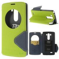 Diary puzdro s okienkom na mobil LG G3 - zelené