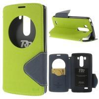 Diary pouzdro s okýnkem na mobil LG G3 - zelené