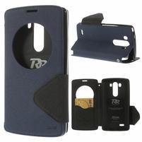 Diary puzdro s okienkom na mobil LG G3 - tmavomodré