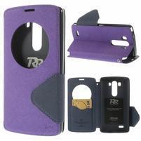 Diary puzdro s okienkom na mobil LG G3 - fialové