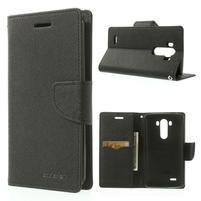 Goos peňaženkové puzdro pre LG G3 - čierne