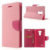 Goos peňaženkové puzdro pre LG G3 - ružové