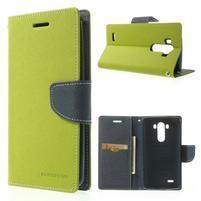 Goos peňaženkové puzdro pre LG G3 - zelené
