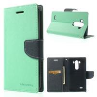 Goos peňaženkové puzdro pre LG G3 - cyan