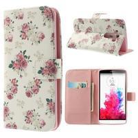 Ultra motive peňaženkové puzdro pre LG G3 - kvetiny