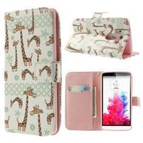 Ultra motive peňaženkové puzdro pre LG G3 - žirafy