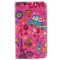 Obrázkové koženkové puzdro pre mobil LG G3 - symboly Paříže
