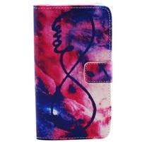 Obrázkové koženkové puzdro pre mobil LG G3 - nekonečná láska