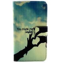 Obrázkové koženkové puzdro pre mobil LG G3 - láska