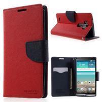 Cross PU kožené puzdro pre LG G3 - červené