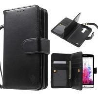 Patrové peňaženkové puzdro pre mobil LG G3 - čierne