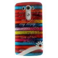 Gelový kryt na mobil LG G3 - barvy dřeva