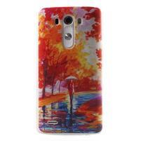 Silks gélový obal pre mobil LG G3 - jesenné maľba