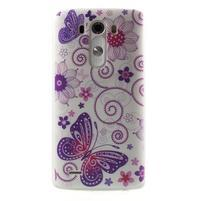 Silks gélový obal pre mobil LG G3 - motýľe