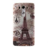Silks gelový obal na mobil LG G3 - Eliffelova věž