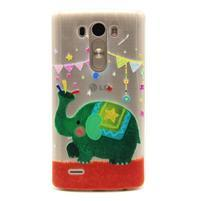 Průhledný gelový obal na LG G3 - slon