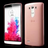 Ultratenký slim obal pre mobil LG G3 - červený