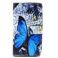 Obrázkové peňaženkové puzdro na LG G3 s - modrý motýl