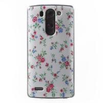 Gélový obal pre LG G3 s - kytičky