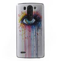 Gélový obal na LG G3 s - oko barev
