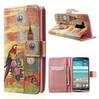 Zapínací peňaženkové puzdro pre LG G3 s - Big Ben