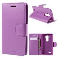 Sonata peňaženkové puzdro pre LG G4 - fialové