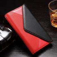 Enlop peněženkové pouzdro na LG G4 - červené/černé