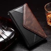 Enlop peňaženkové puzdro pre LG G4 - čierne/coffee