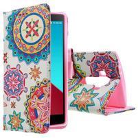 Call peňaženkové puzdro pre LG G4 - kaleidoskop