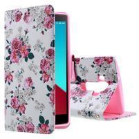 Call peněženkové pouzdro na LG G4 - květiny