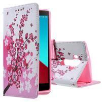 Call peněženkové pouzdro na LG G4 - kvetoucí větvička