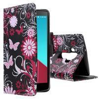 Call peněženkové pouzdro na LG G4 - kouzelní motýlci