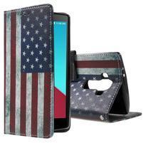 Call peňaženkové puzdro pre LG G4 - US vlajka