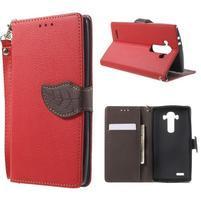 Leaf peňaženkové puzdro pre mobil LG G4 - červené