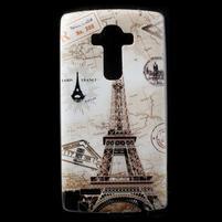 Softy gélový obal pre mobil LG G4 - Eiffelova veža