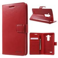 Luxury PU kožené puzdro pre mobil LG G4 - červené