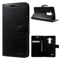Luxury PU kožené puzdro pre mobil LG G4 - čierne
