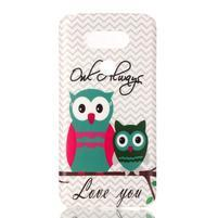 Gélový obal pre mobil LG G5 - malej sovy