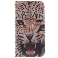 Obrázkové koženkové puzdro pre LG G5 - leopard