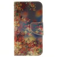 Obrázkové koženkové puzdro pre LG G5 - maľované listí