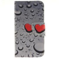 Obrázkové koženkové puzdro pre LG G5 - srdce