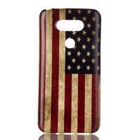 Gélový obal pre mobil LG G5 - US vlajka